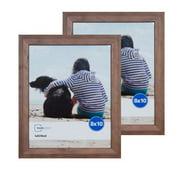 Mainstays 8x10 Oak Finish Frame, Set of 2