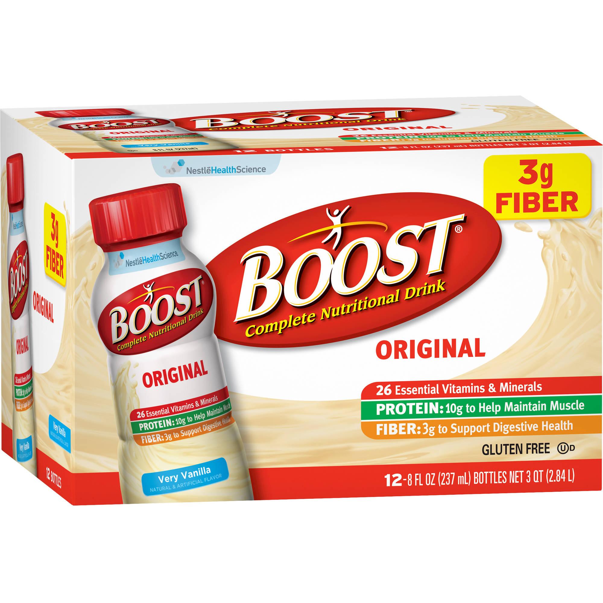 Boost Original Very Vanilla Complete Nutritional Drinks, 8 fl oz, 12 count