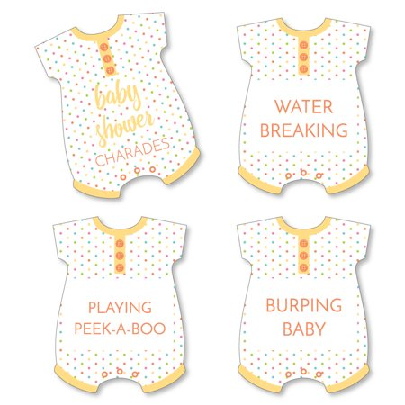 Baby Shower Charades (Baby Neutral - Baby Shower Game - Baby Charades Cards - Set of)