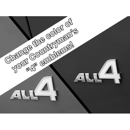 All 4 Emblem Vinyl Decal Inserts for MINI Cooper Countryman, Paceman, and Clubman - Choose Color - [WHITE]
