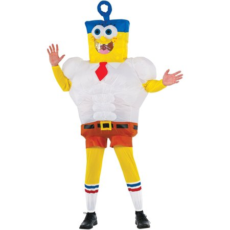 Spongebob Squarepants Movie Adult Inflatable Spongebob Costume for $<!---->