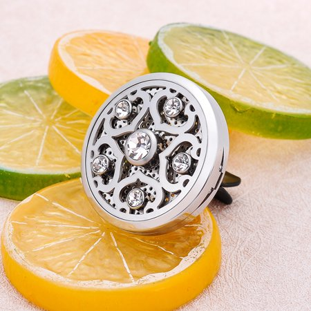 Crystal Diffuser - Car Vent Clip Sea Star Clear Crystal Aroma Perfume Essential Oil Diffuser Locket
