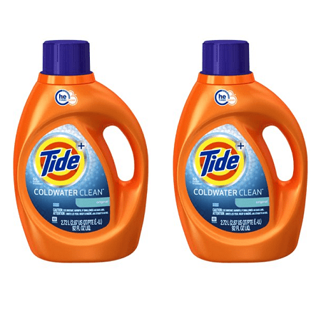 (2 pack) Coldwater Clean Fresh Scent HE Turbo Clean Liquid Laundry Detergent, 92 oz., 59