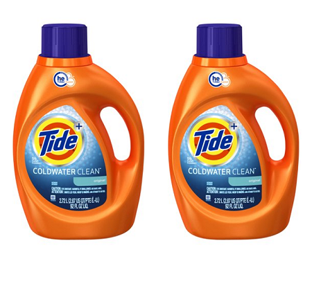 (2 pack) Coldwater Clean Fresh Scent HE Turbo Clean Liquid Laundry Detergent, 92 oz., 59 loads