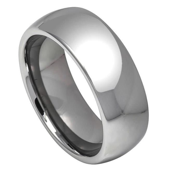 TK Rings 013bTR-8mmx8.5 8 mm Polished Shiny Domed Ring Tungsten Ring - Size 8.5 - image 1 of 1