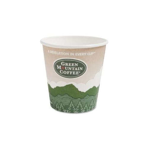 Green Mountain Coffee Roasters Ecotainer Cup - 16 oz - 1000/Carton - Paper, Resin - Green