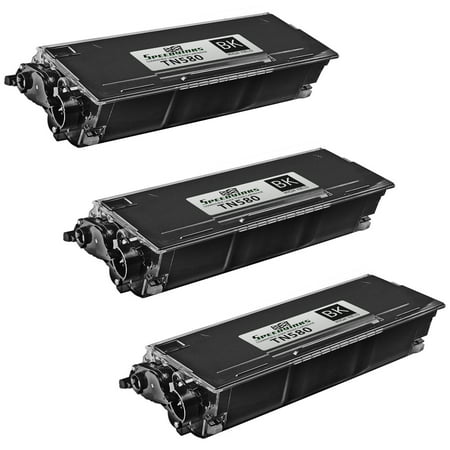 SpeedyInks - 3pk Compatible Brother TN580 TN-580 High Yield Black Laser Toner Cartridge for use in DCP-8060, DCP-8065, DCP-8065DN, HL-5200, HL-5240, HL-5240LT, HL-5250, HL-5250DN, (Tn580 Compatible Toner)