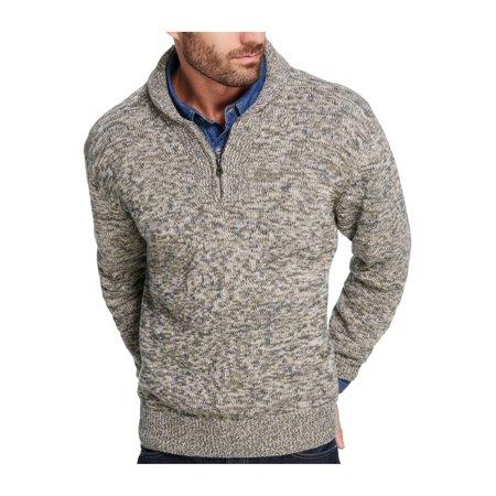 Weatherproof Mens Quarter Zip Shawl Sweater ()