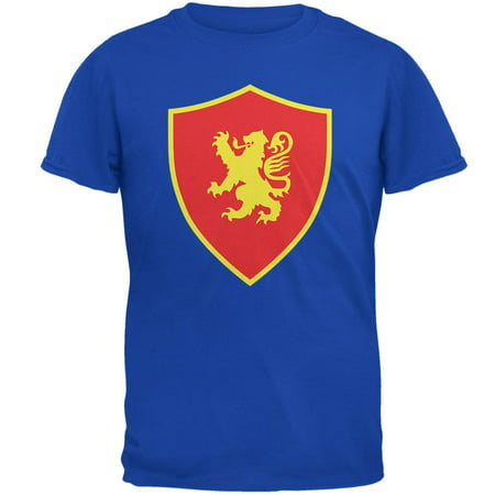 Halloween Knight Shield Costume Rampant Lion Mens T Shirt
