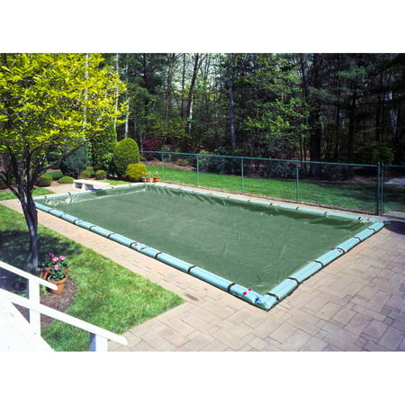 Pool Mate 15 Year Extra-Large Mesh Forest Green In-Ground Winter Pool Cover, 16 x 32 ft.