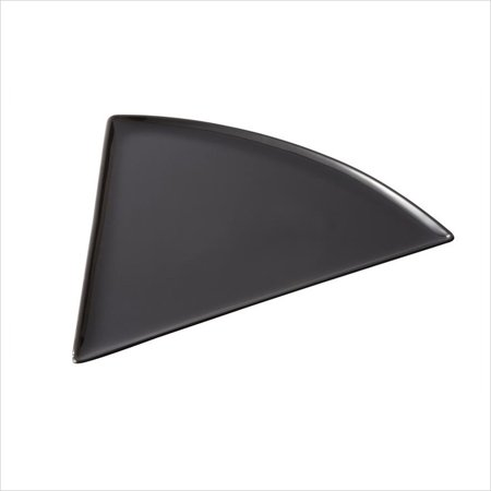 Creative Table 8.75 inch x 9 inch Triangle Pizza Plate Black Melamine/Case of 24