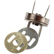 Sunbelt Magnetic Purse Snap 14mm 1/Pkg-Black Nickel