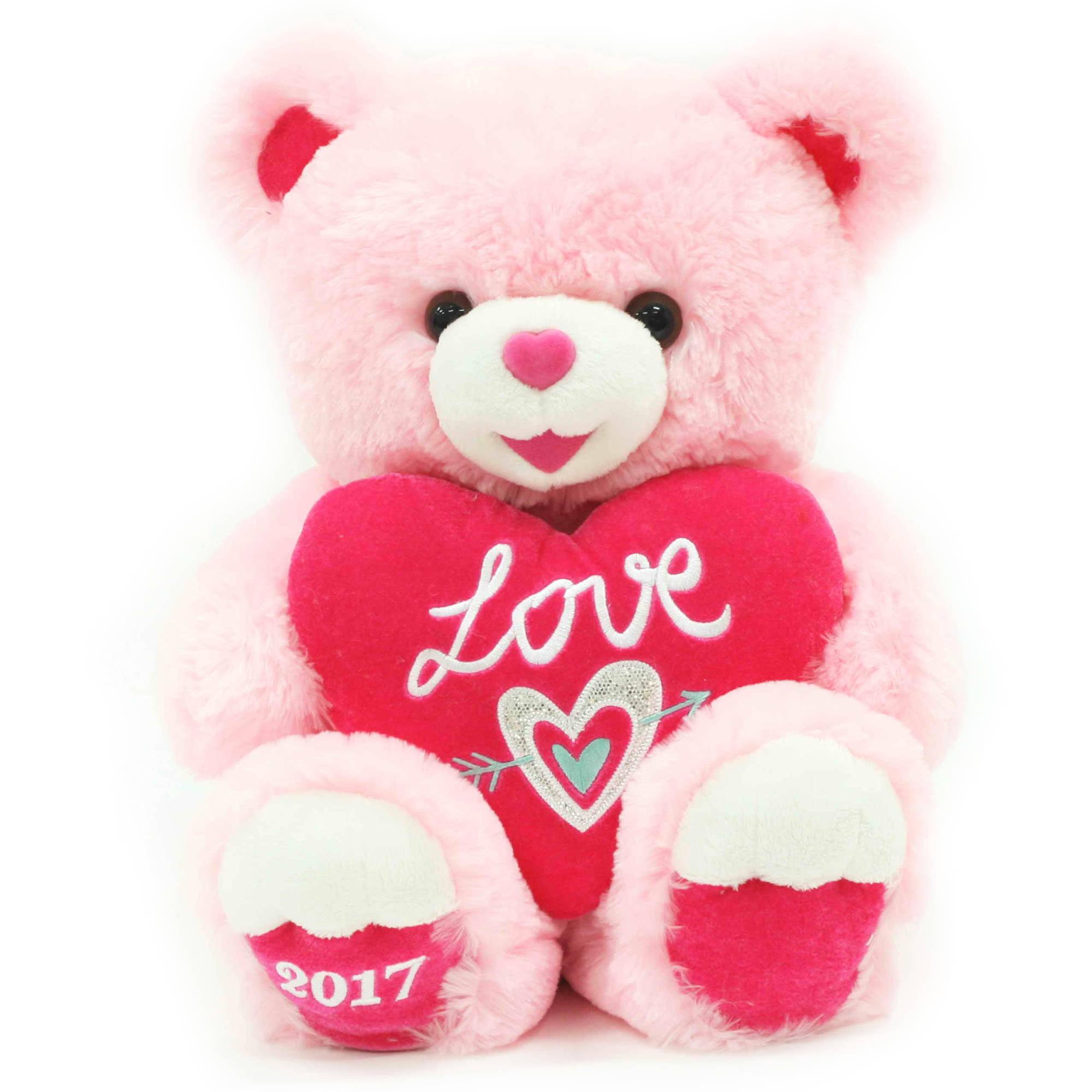 Baby Net For Stuffed Animals, Valentine Sweetheart Teddy Bear 14 Pink Walmart Com Walmart Com