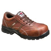 Women's Leather Slip Resistant Cushioned Safety Toe Work Shoe