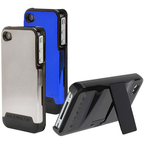 Scosche Universal iPhone 4 Switchback G4 Polycarbonate Case with Interchangeable Back, Blue/Black/Gray