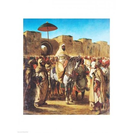 Muley Abd-Ar-Rhaman The Sultan of Morocco Poster Print by Eugene Delacroix - 18 x 24 in. - image 1 de 1