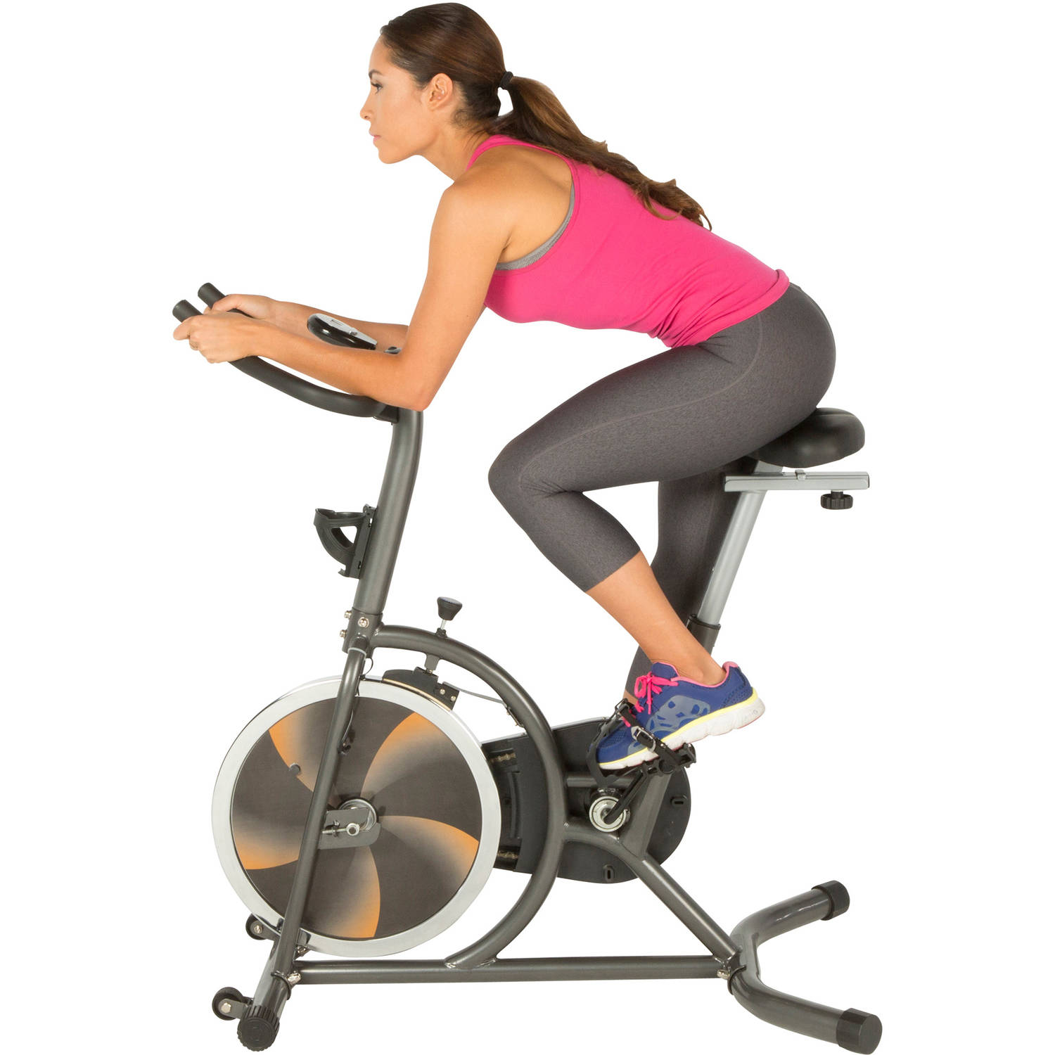 Fitness Reality S275 Exercise Bike/Indoor Training Cycle with 4-Way Adjustable Seat