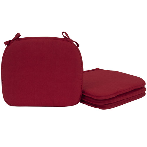 Perfect Mainstays 4 Pack Red Chairpads