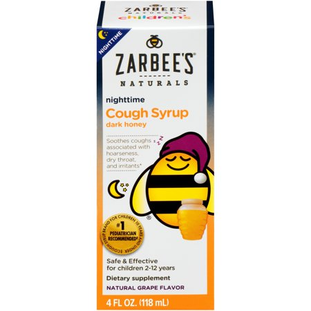 Zarbee's® Naturals Children's Cough Syrup with Dark Honey Nighttime, Grape 4 fl. oz.