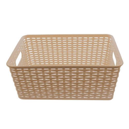 YBM Home Plastic Rattan Storage Basket Organizer