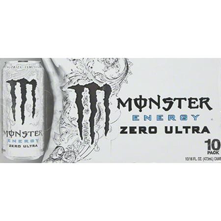 Monster Ultra Energy Drink  Zero  16 Fl Oz  10 Count