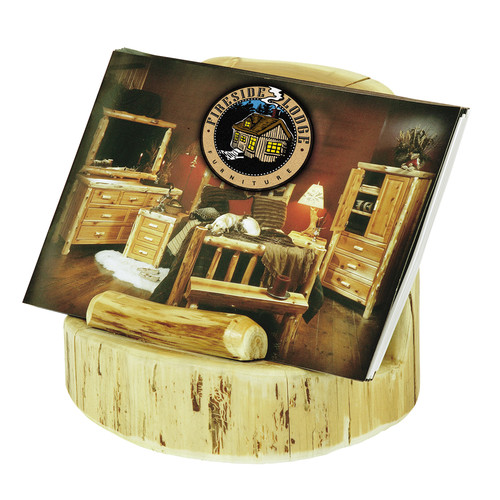 Fireside Lodge Traditional Cedar Log Brochure Holder