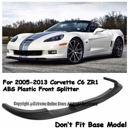 - ZR1 Style ABS Plastic Black Front Bumper Lower Lip Kit Splitter Spoiler Wing For 05-13 Chevrolet Corvette C6 Z06 2005 2006 2007 2008 2009 2010 2011 2012 2013 05 06 07 08 09 10 11 12 13 Chevy