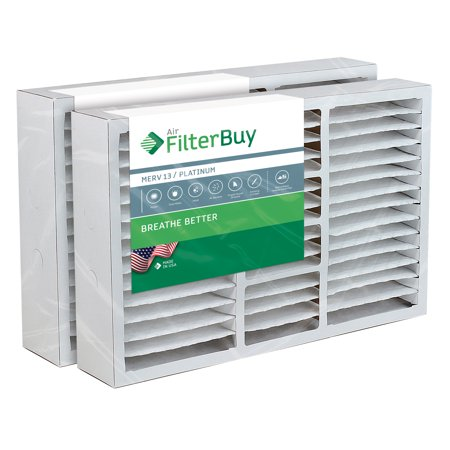 16x25x5 Coleman Replacement AC Furnace Air Filters - AFB Platinum MERV 13 - Pack of 2 Filters. Designed to replace FS1625, M1-1056, MU1625, 9183950.