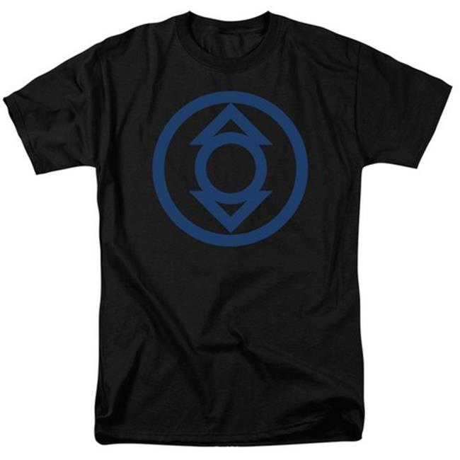 Green Lantern-Blue Emblem Short Sleeve Adult 18-1 Tee, Black - 2X - image 1 de 1