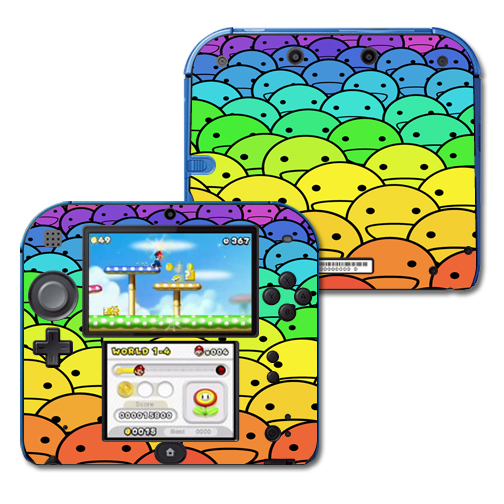 Mightyskins Protective Vinyl Skin Decal Cover for Nintendo 2DS wrap sticker skins Happy Faces