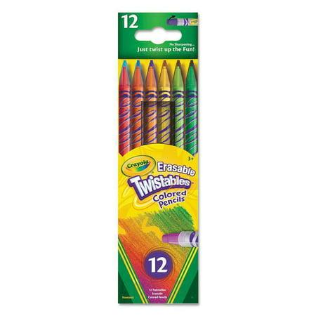 Crayola 12 ct Erasable Twistables Colored Pencils