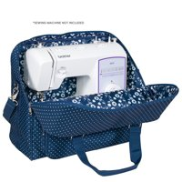 Everything Mary Deluxe Blue Sewing Machine Carrying Storage Case  Sewing Machine Tote Fits Most Standard Size Brother and Singer Machines - Portable Sewing Case with Shoulder Strap for Travel