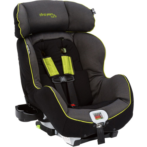 The First Years - True Fit Convertible Car Seat, Abstract O's, Black and Green