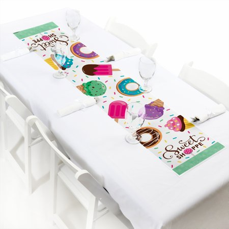Sweet Shoppe - Petite Candy and Bakery Birthday Party or Baby Shower Paper Table Runner - 12