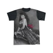 Bettie Page - Meow - Short Sleeve Black Back Shirt - XX-Large