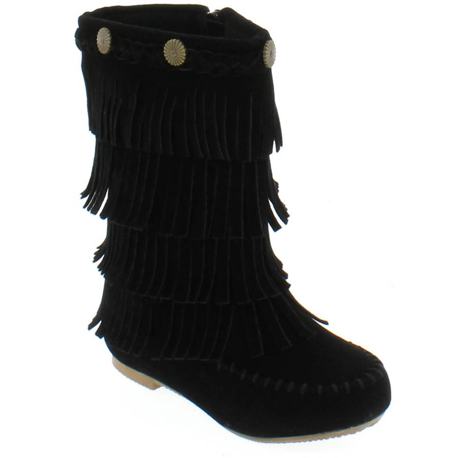 Shoes of Soul Kids Fringe Boots - Walmart.com