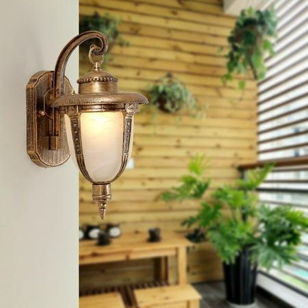 Bronze Large Outdoor Wall Lantern (Meigar Wall Mount LED Light Lamp Outdoor Garden Exterior Porch Patio Waterproof)