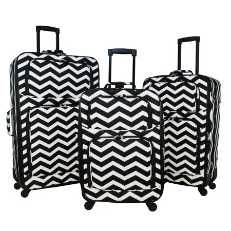 World Traveler 3-Piece Rolling Expandable Spinner Luggage (Best World Traveler Bags)