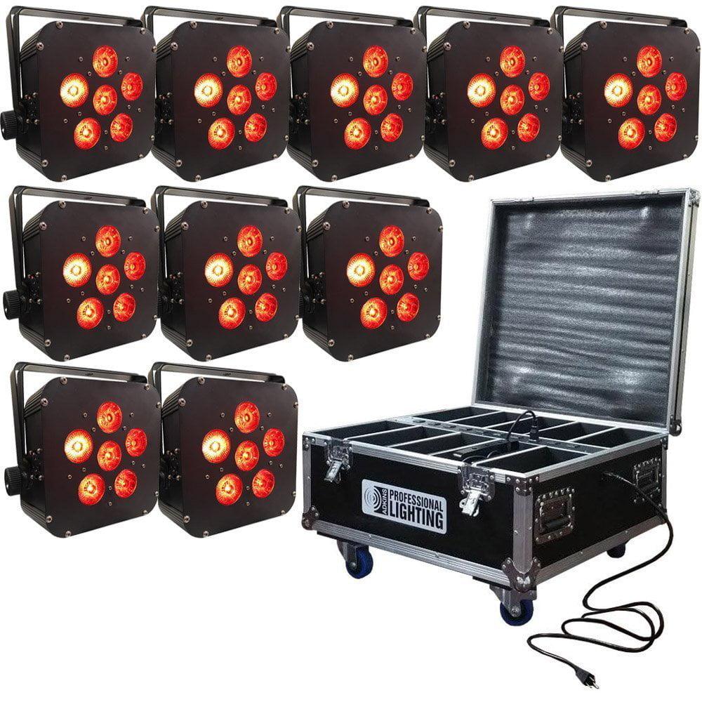 Bedler 10W RGB UV COB LED Par Light Wireless Remote Control Stage Bright Smooth Lighting Lamp DJ DMX Lights for Party Bars Show U K Plug