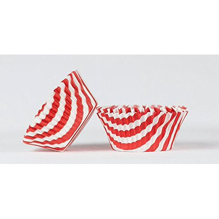 50pc Stripe Design Red Standard Size Cupcake Baking Cups Liners Wrappers](Striped Cupcake Liners)