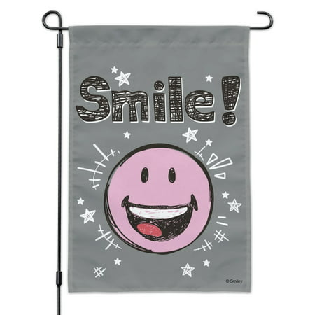 Image of Smile Happy Smiley Face Emoticon Officially Licensed Garden Yard Flag