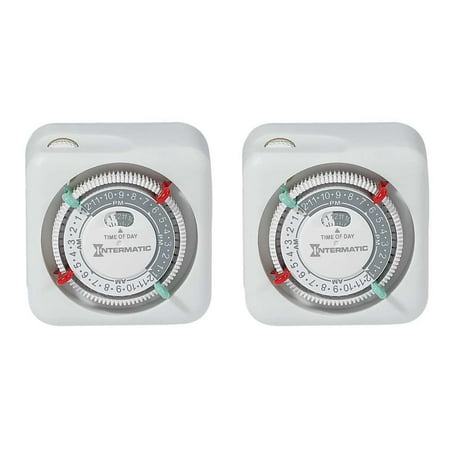Lap Timer - Intermatic TN111K 15-Amp Lamp and Appliance Timer, 2-Pack