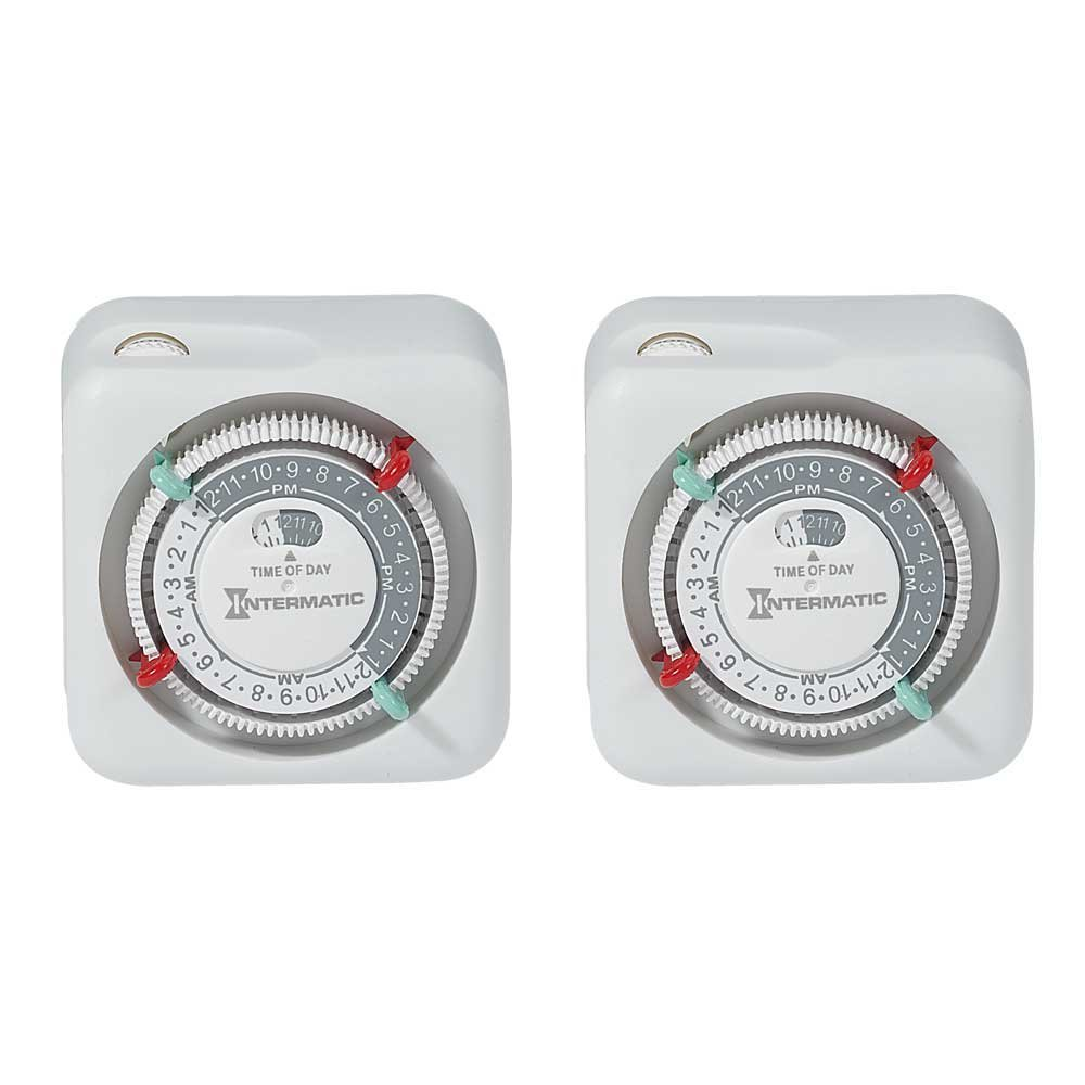 Intermatic TN111K 15-Amp Lamp and Appliance Timer, 2-Pack