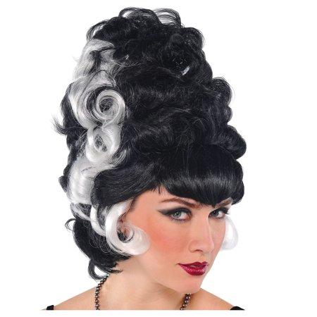 Transylvania Bride Wig for Women, Halloween Costume Accessories, One (Evil Bride Adult Women's Wig)