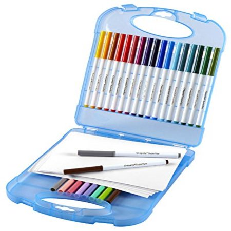 Crayola Super Tips Washable Markers and Paper Set, 25 Markers and 40 Sheets of Paper, Art Tools, Storage Case - Crayola Marker Set