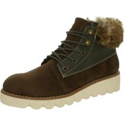 Rocket Dog Women's Shelby Graham Owlette Brown Ankle-High Leather Midcalf Boot - 9M