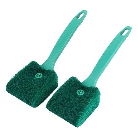 - Unique Bargains 2pcs Green Aquarium Algae Glass Double Sides Sponge Clean Brush Scrubber Cleaner