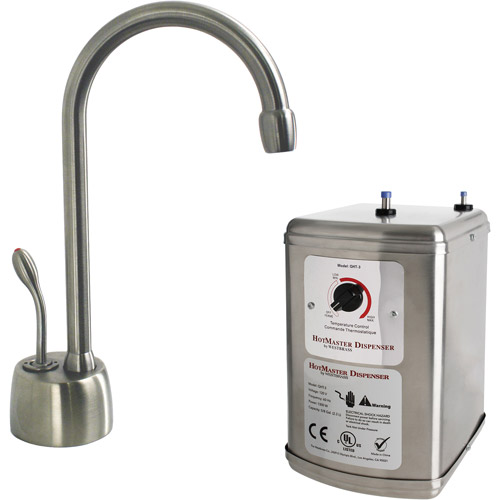 HotMaster Instant Hot Water System with Solid Brass Faucet, Satin Nickel, D271H-07