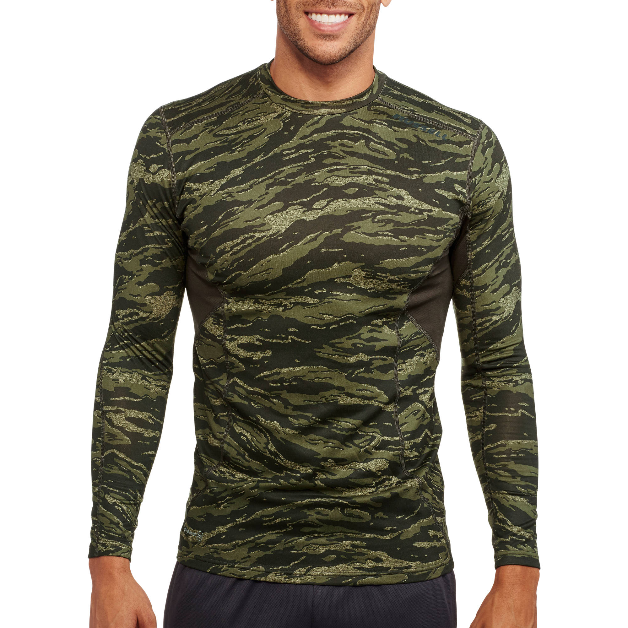 Russell Men's Crew Neck Cold Compression Long Sleeve Tee