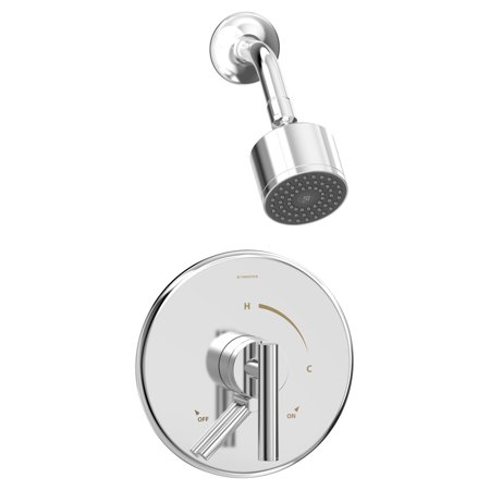 Dia Single Handle 1-Spray Shower Trim with Secondary Volume Control in Polished Chrome - 1.5 GPM (Valve Not Included)